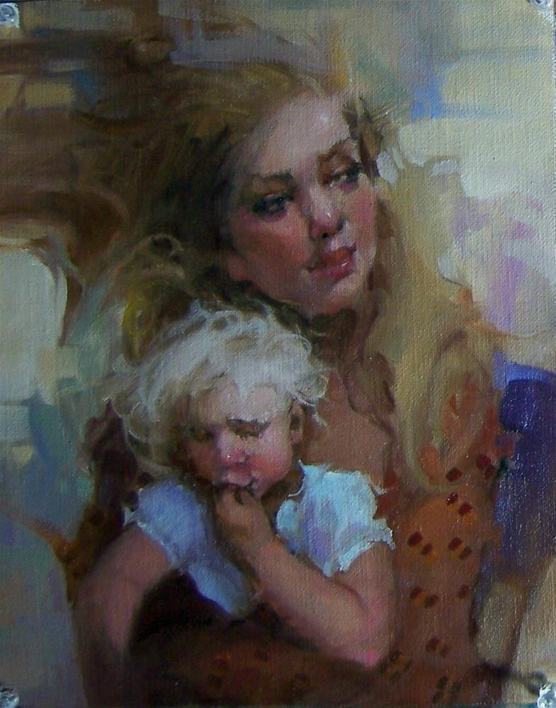 """Motherhood"" original fine art by Kim Roberti"