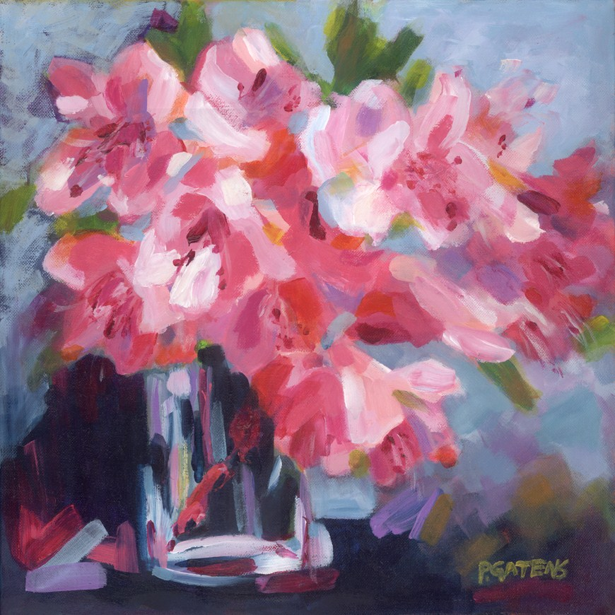 """Greenbrier Rhodies"" original fine art by Pamela Gatens"