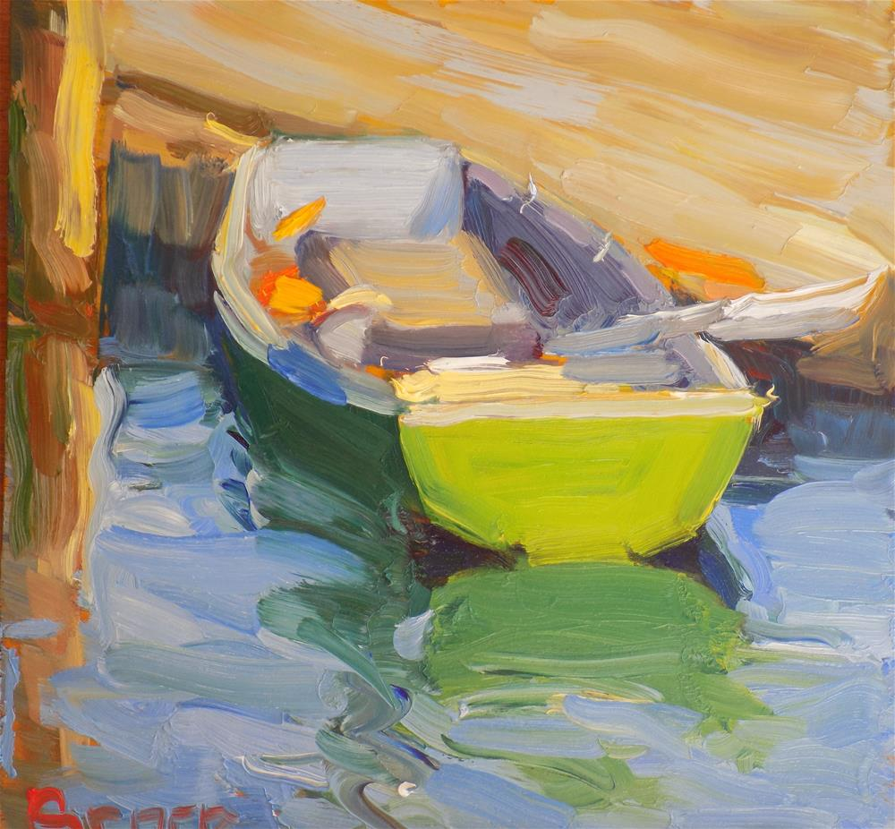 """Who Owns This Boat"" original fine art by Rita Brace"