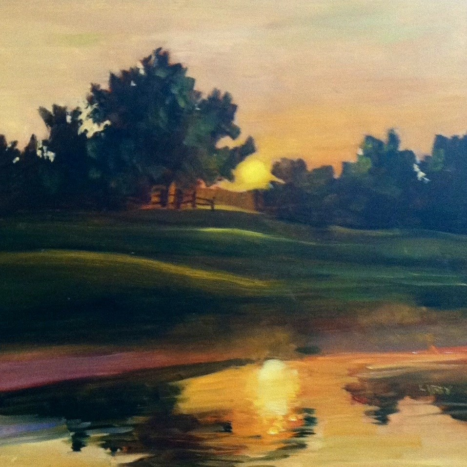 """Sunrise"" original fine art by Libby Anderson"