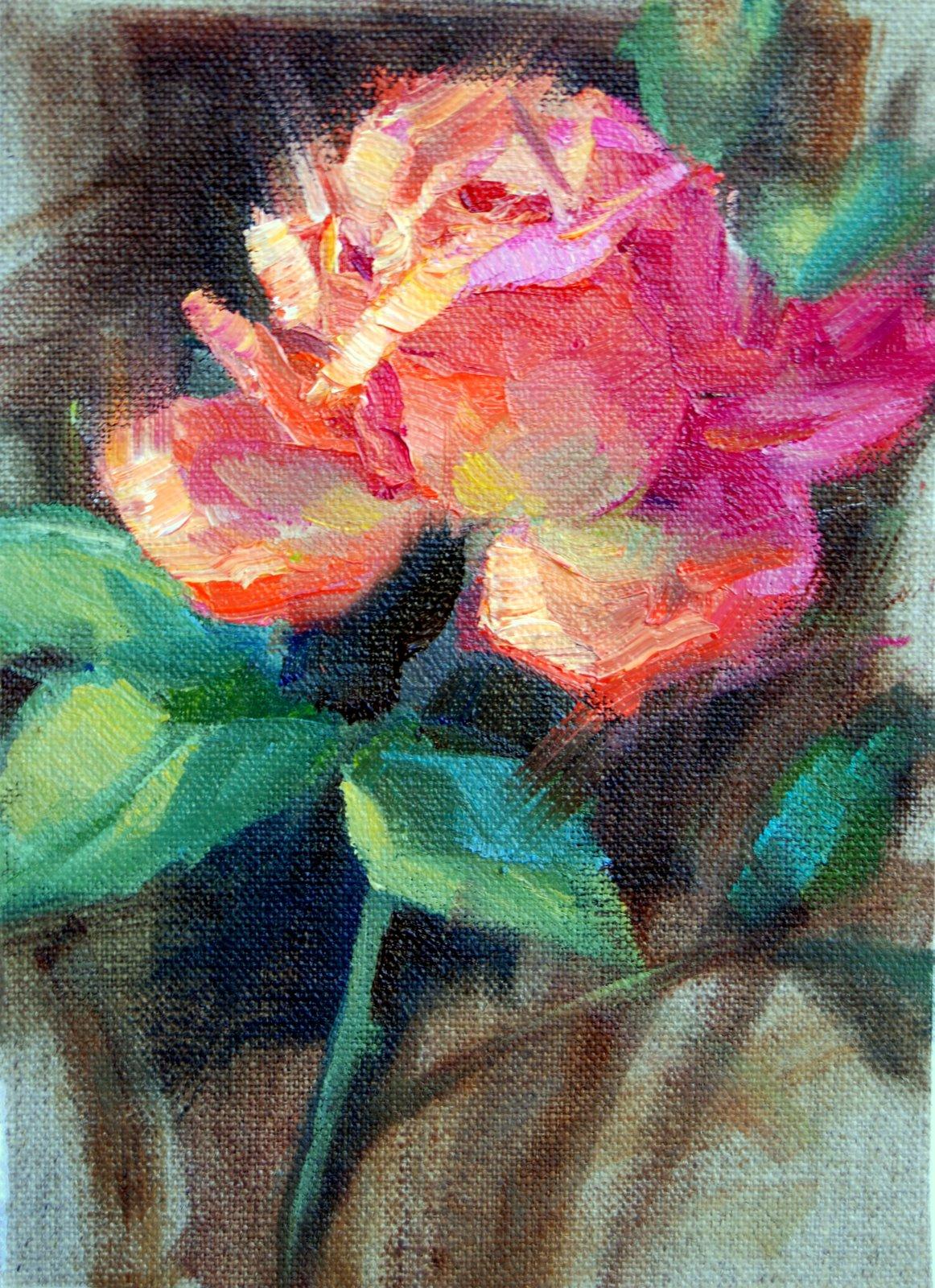 """""""Rose Study #3"""" original fine art by Julie Ford Oliver"""