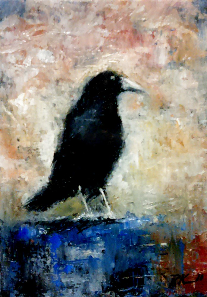 """The Raven is Back"" original fine art by Bob Kimball"