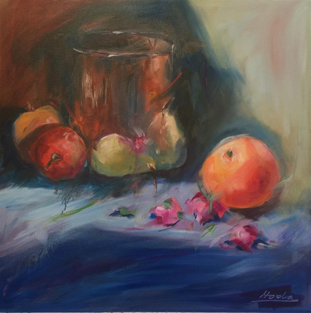 """Orange Power"" original fine art by Hoda Nicholas"
