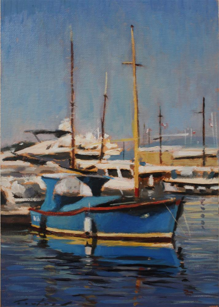 """Port de Saint Tropez"" original fine art by Phil Couture"