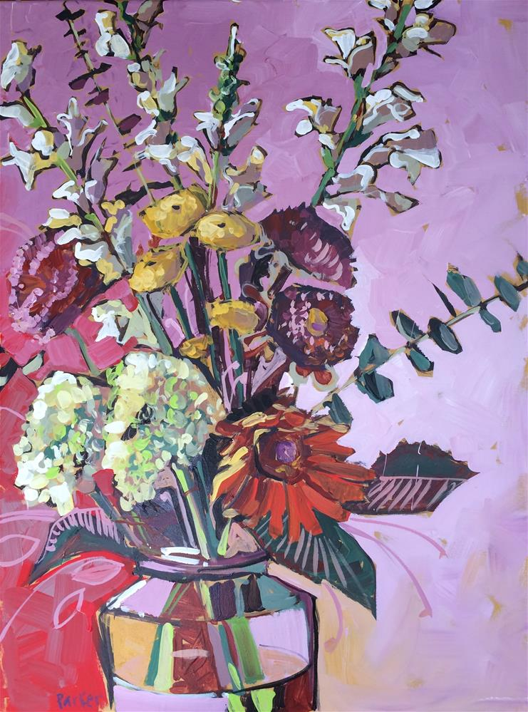 """Bouquet No.2"" original fine art by Teddi Parker"