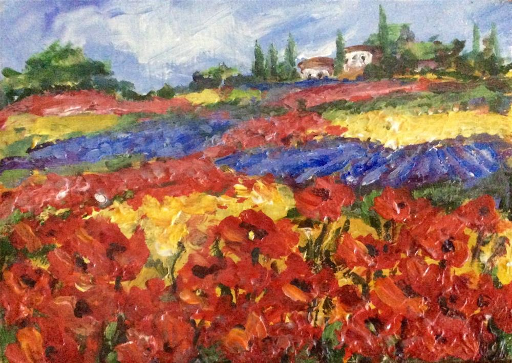 """Flowers of Provence"" original fine art by Sonia von Walter"