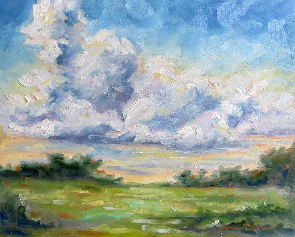 """Rising Clouds"" original fine art by Tammie Dickerson"