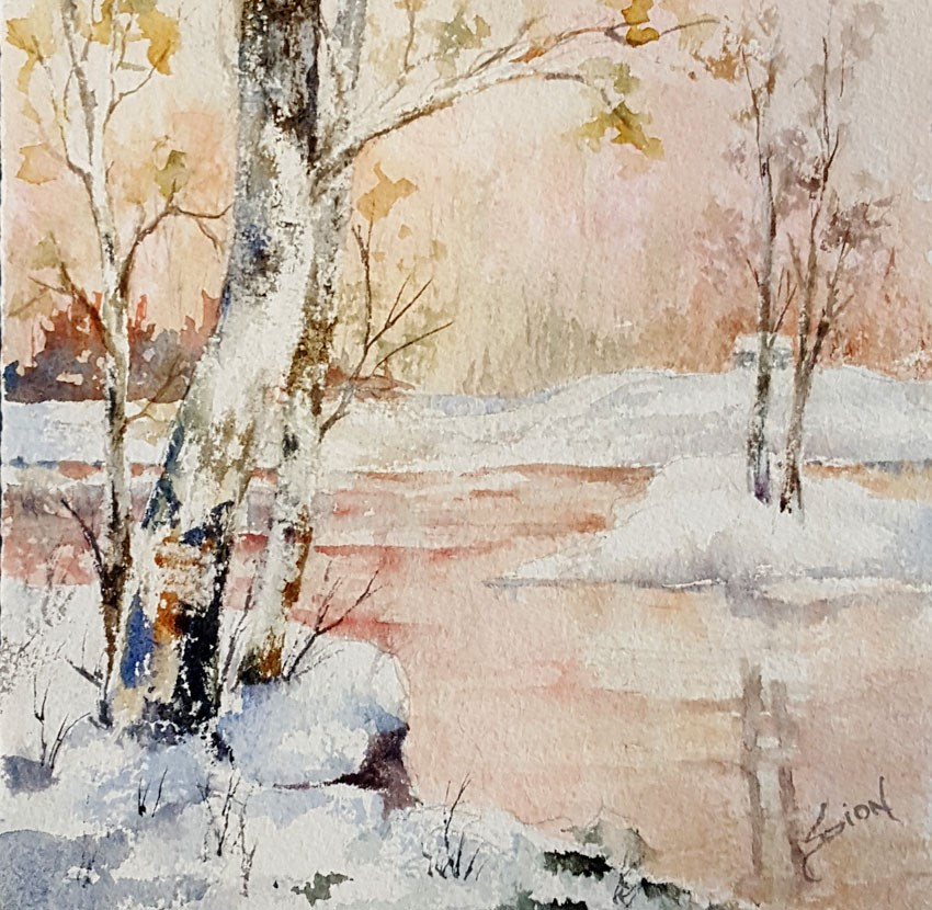 """Early Winter"" original fine art by Sue Dion"