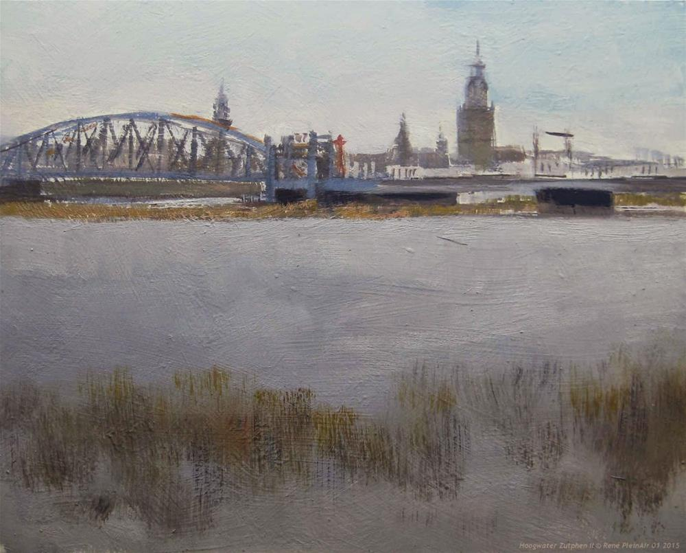 """Hightide Zutphen The Netherlands"" original fine art by René PleinAir"