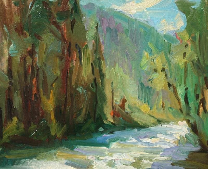 """""""Stream Study"""" original fine art by Kathryn Townsend"""