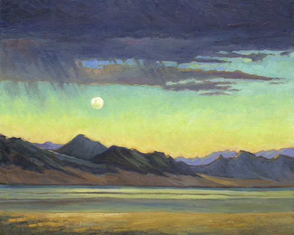"""Moon Over Nevada"" original fine art by Kath Reilly"