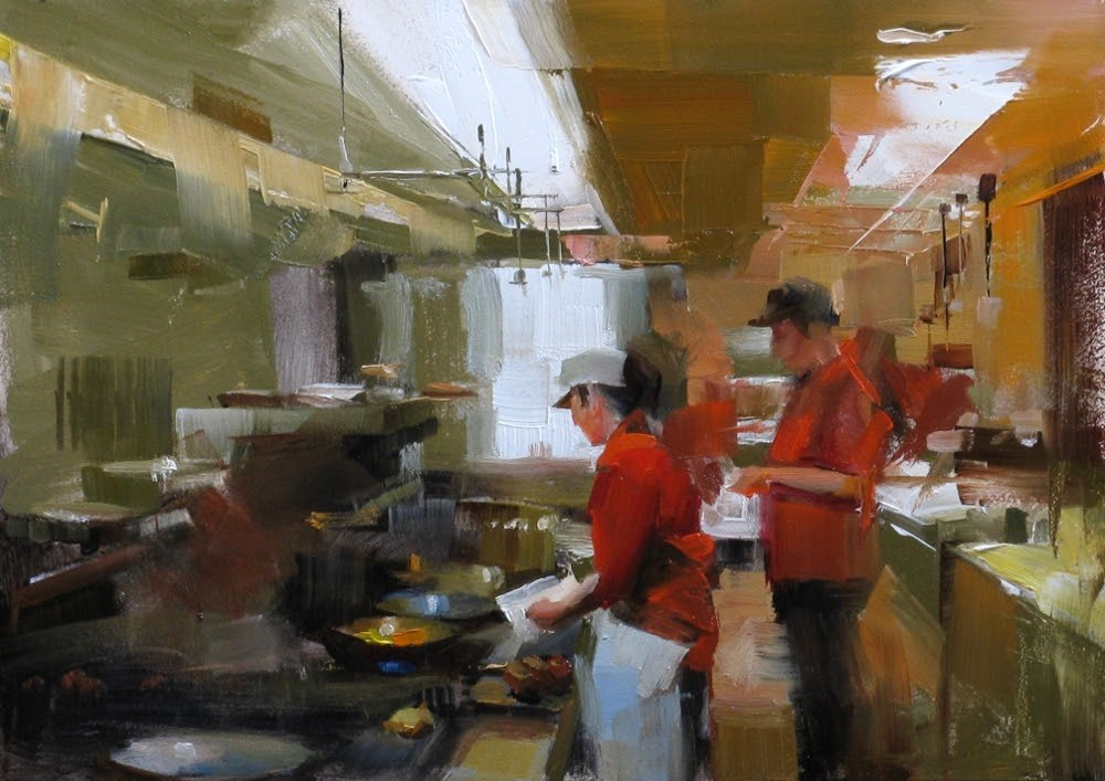 """Special Recipe"" original fine art by Qiang Huang"