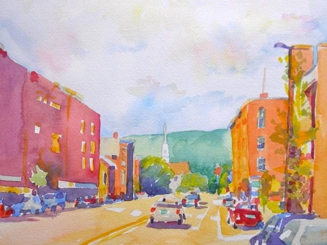 """Main Street"" original fine art by Jo  MacKenzie"