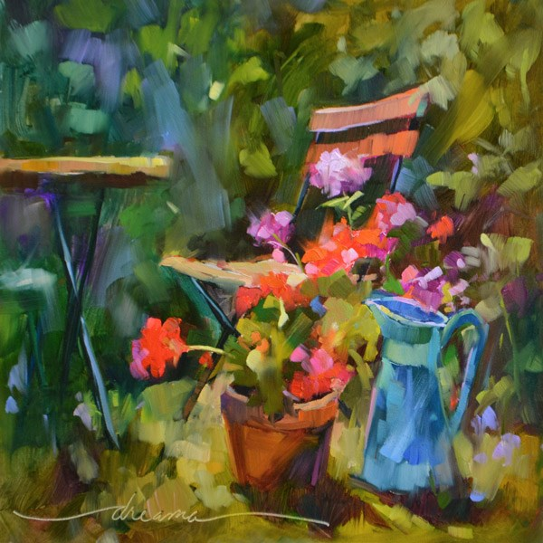 """You Must Come to My Garden"" original fine art by Dreama Tolle Perry"