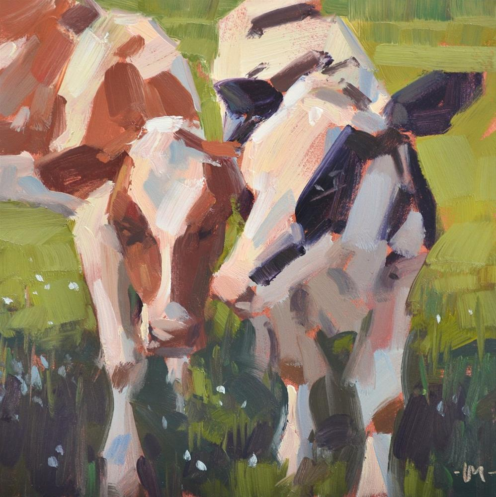 """Cow Comfort"" original fine art by Carol Marine"
