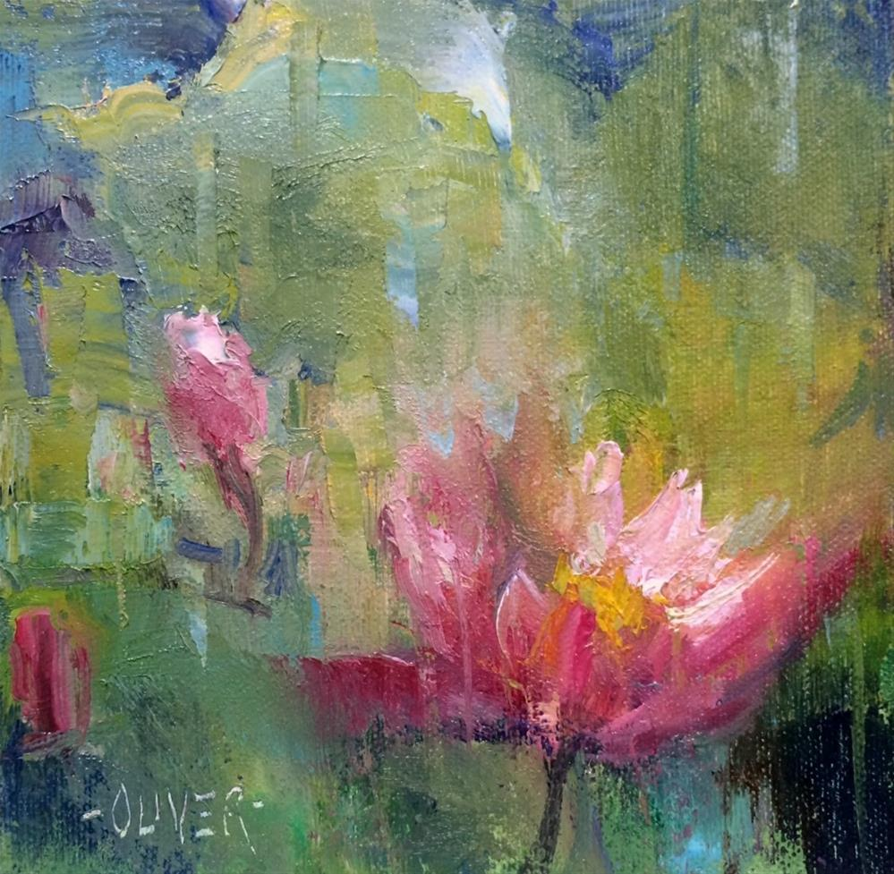 """The Water Lily"" original fine art by Julie Ford Oliver"