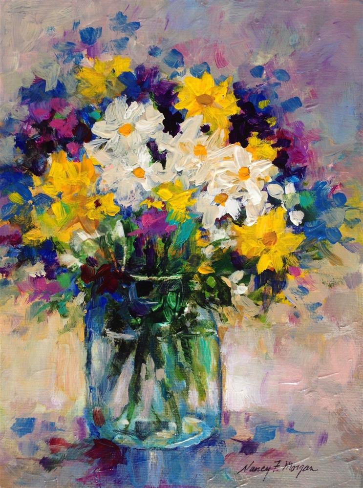 """Soft Bouquet"" original fine art by Nancy F. Morgan"