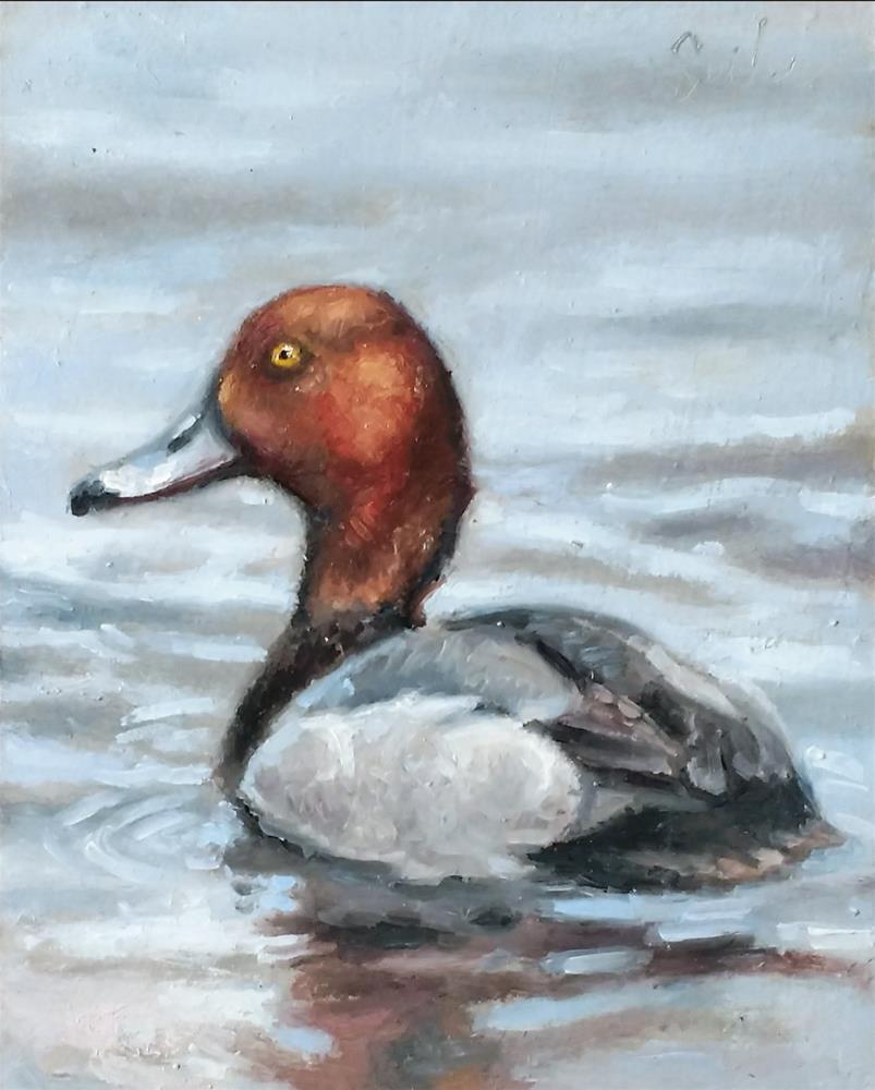 """Redhead"" original fine art by Larry Seiler"