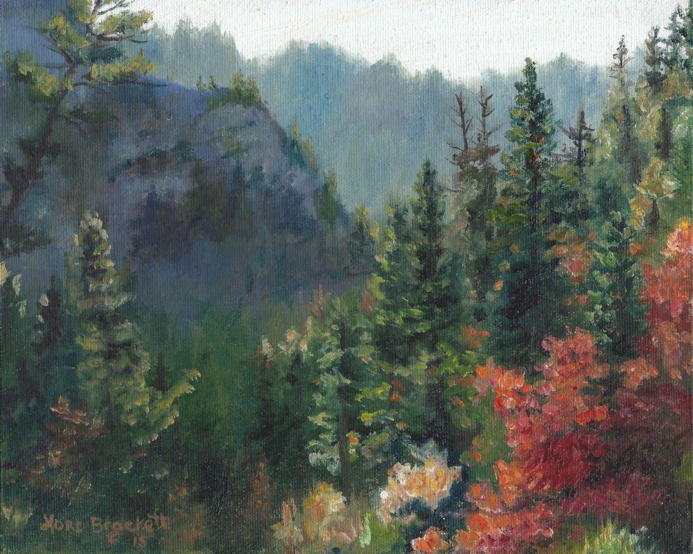 """Woodland Wonder"" original fine art by Lori Brackett"