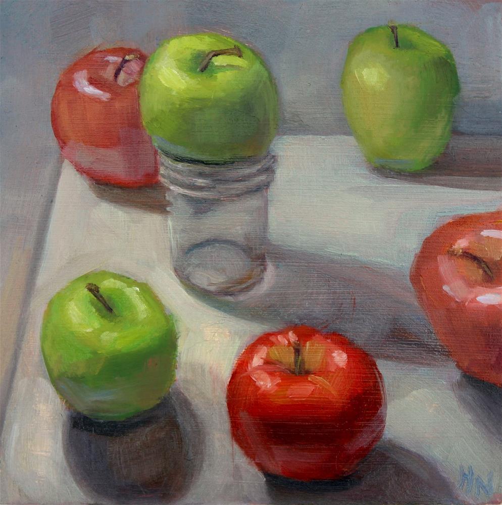 """Apples to Apples #2"" original fine art by Heather Nibert"