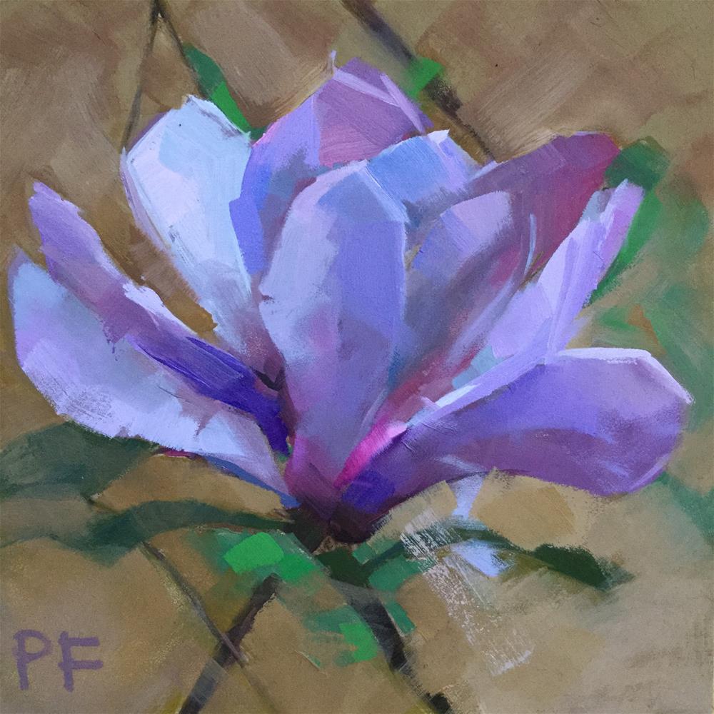 """Luminous Purple"" original fine art by Patti Frasier"