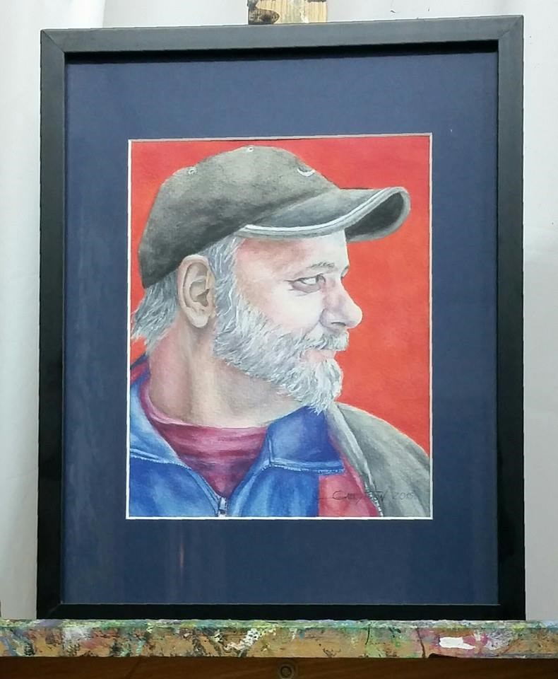 """Paul: pencils"" original fine art by Gabriella DeLamater"
