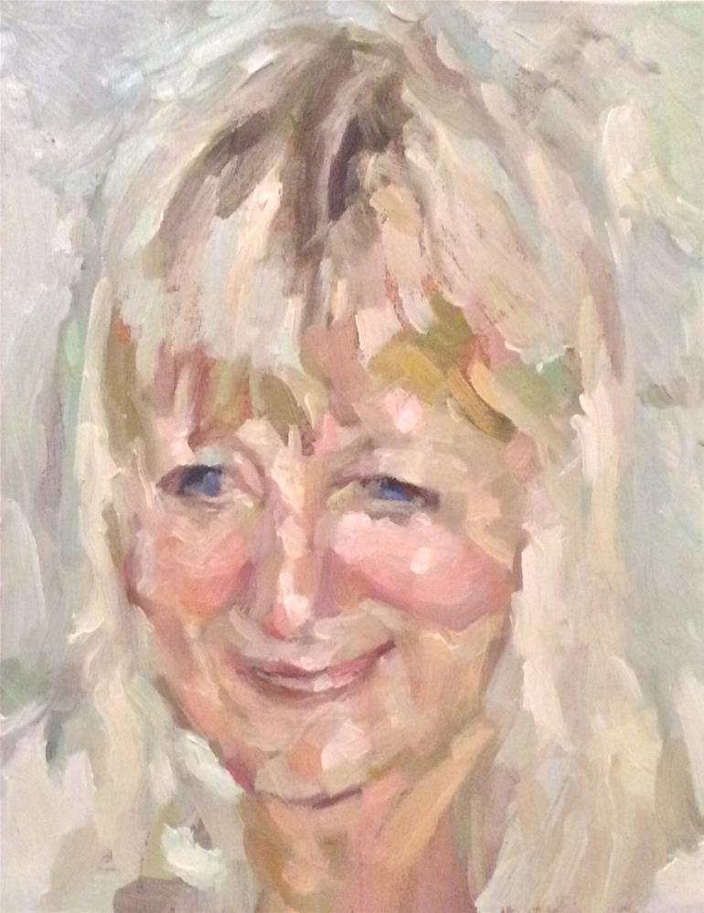 """Portrait of my mother"" original fine art by Paula Howson-Green"