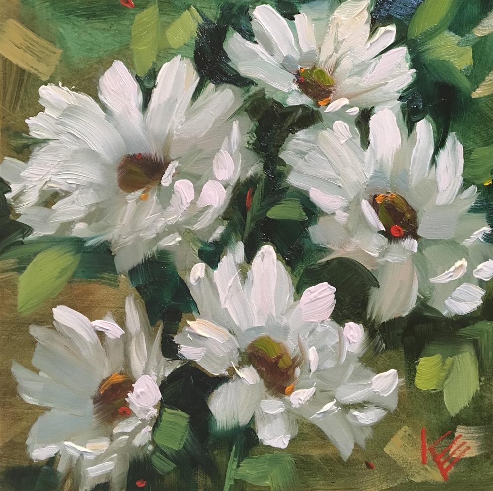 """Daisy Fest"" original fine art by Krista Eaton"