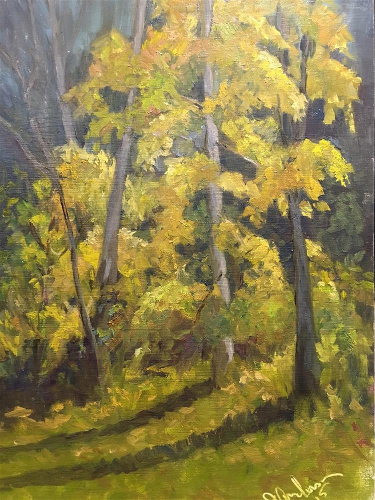 """""""Autumn Leaves"""" original fine art by Judith Anderson"""