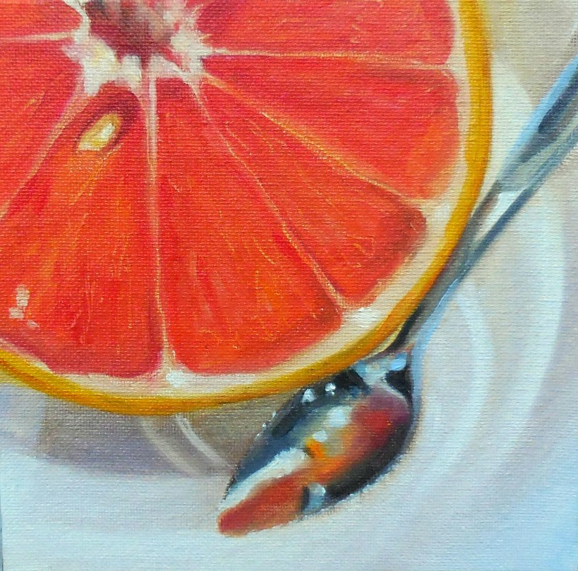 """Grapefruit Spoon"" original fine art by Beth Moreau"