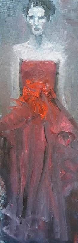 """Valentino's girl"" original fine art by Rentia Coetzee"