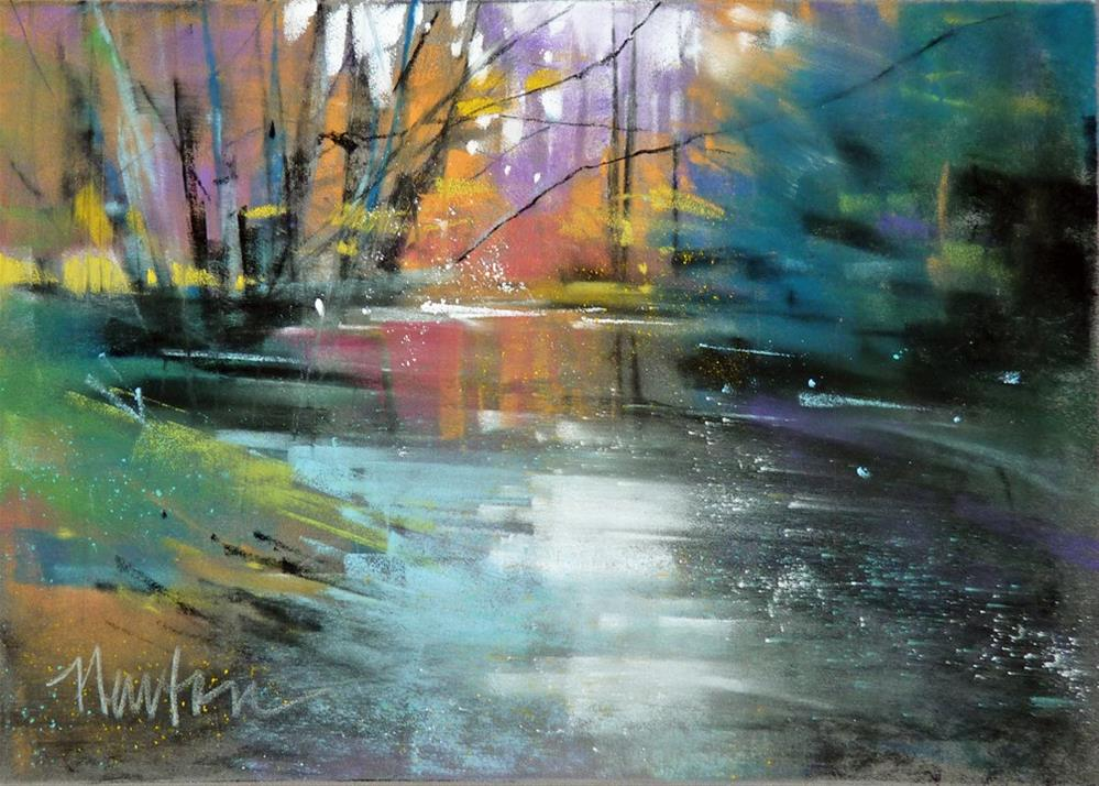 """""""Creekside"""" original fine art by Barbara Benedetti Newton"""