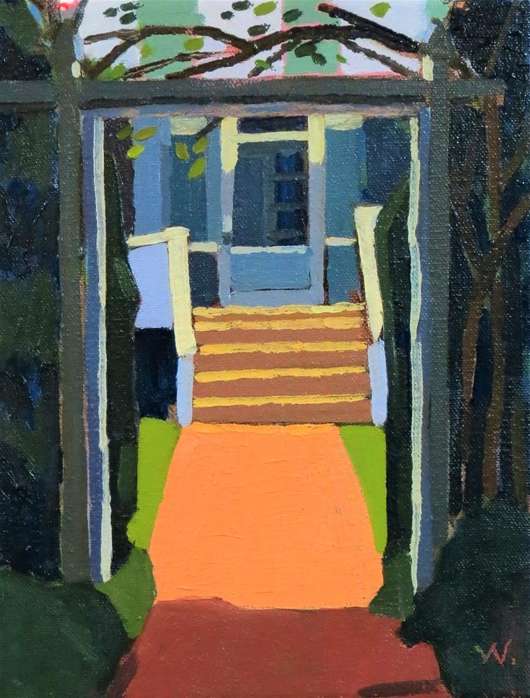 """""""Snowden Arbor"""" original fine art by Joan Wiberg"""