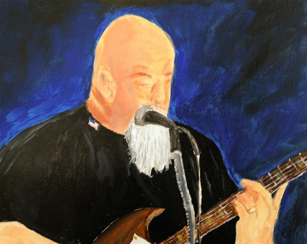 """Rocking the Blues"" original fine art by Brenda Smith"