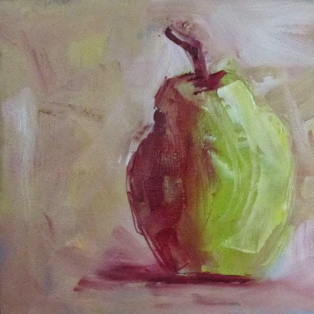 """Pear #3"" original fine art by Helen Moreda"