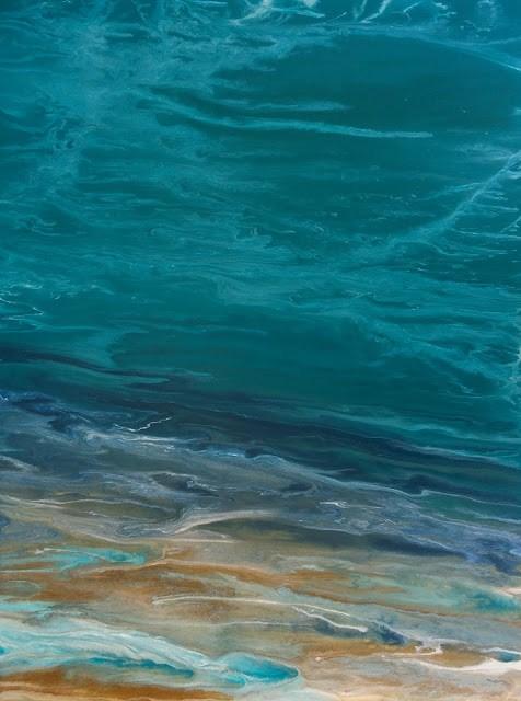 """Abstract Seascape, Ocean Art, Coastal Living Decor, Fine Art Beautiful Storm VIII by International"" original fine art by Kimberly Conrad"