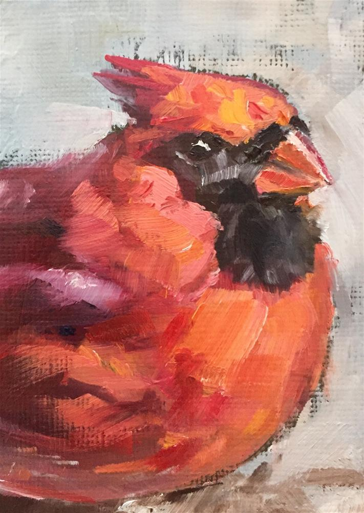 """Redbird"" original fine art by Gary Bruton"