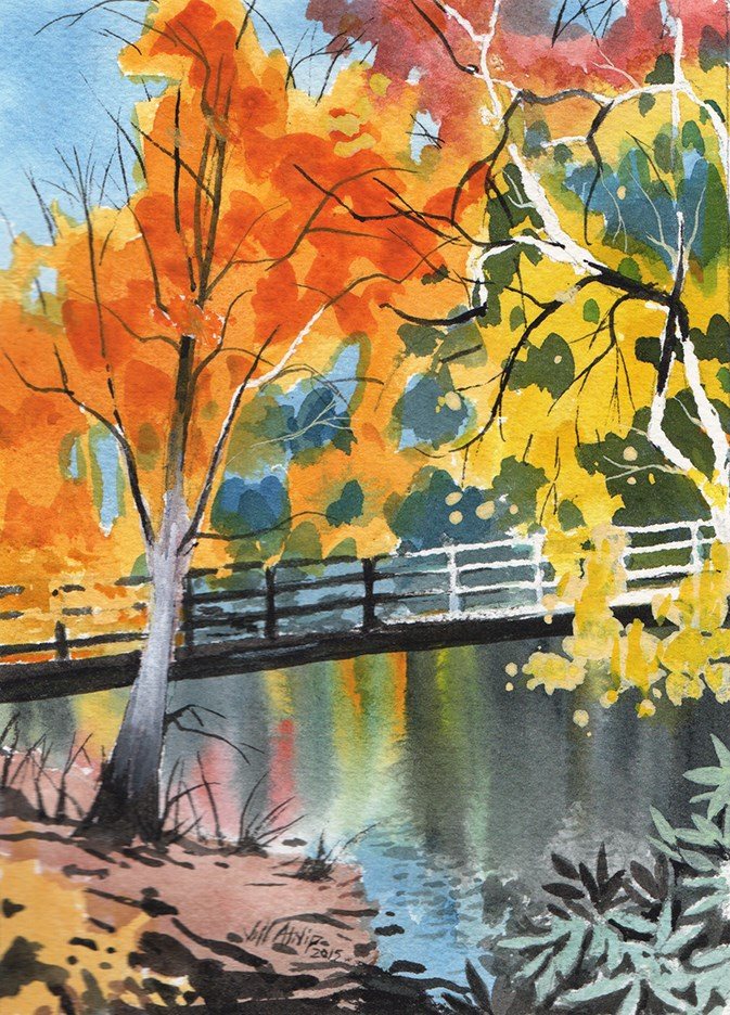 """Creek With Color"" original fine art by Jeff Atnip"