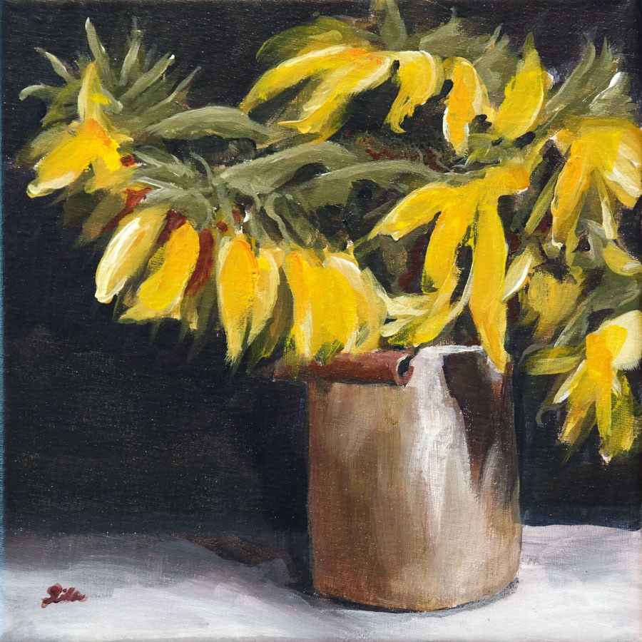 """1479 Sunflower Classic"" original fine art by Dietmar Stiller"