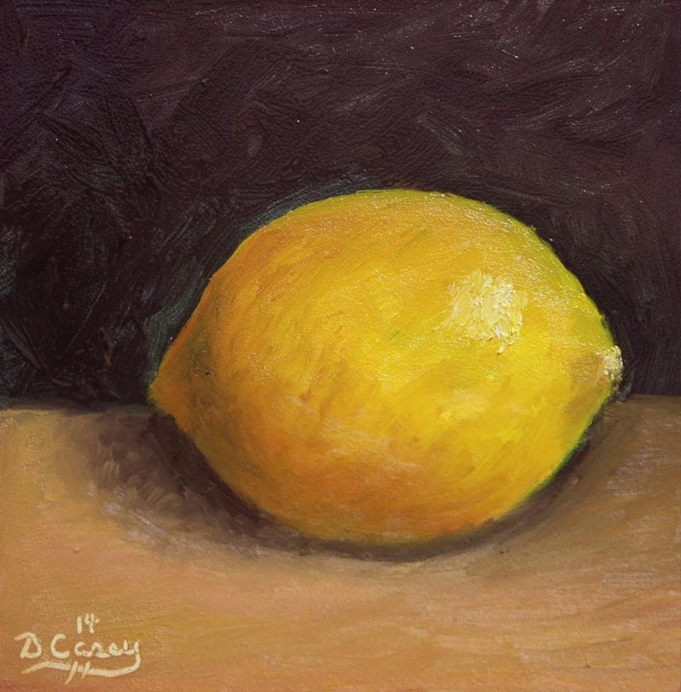 """Kitchen Painting -Lemon 004"" original fine art by Dave Casey"