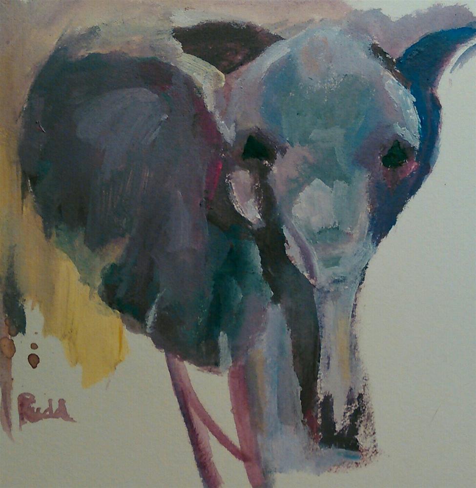 """More Elephants"" original fine art by Ann Rudd"