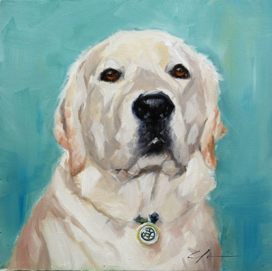 """Ollie Commission"" original fine art by Clair Hartmann"
