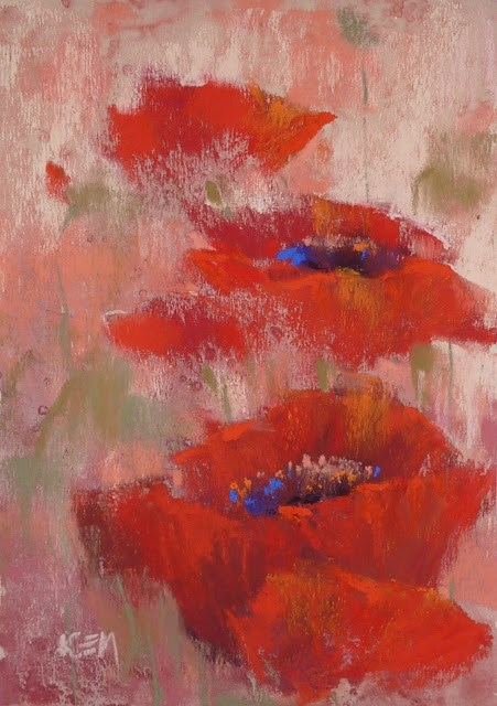 """""""Let's Paint with Red!"""" original fine art by Karen Margulis"""