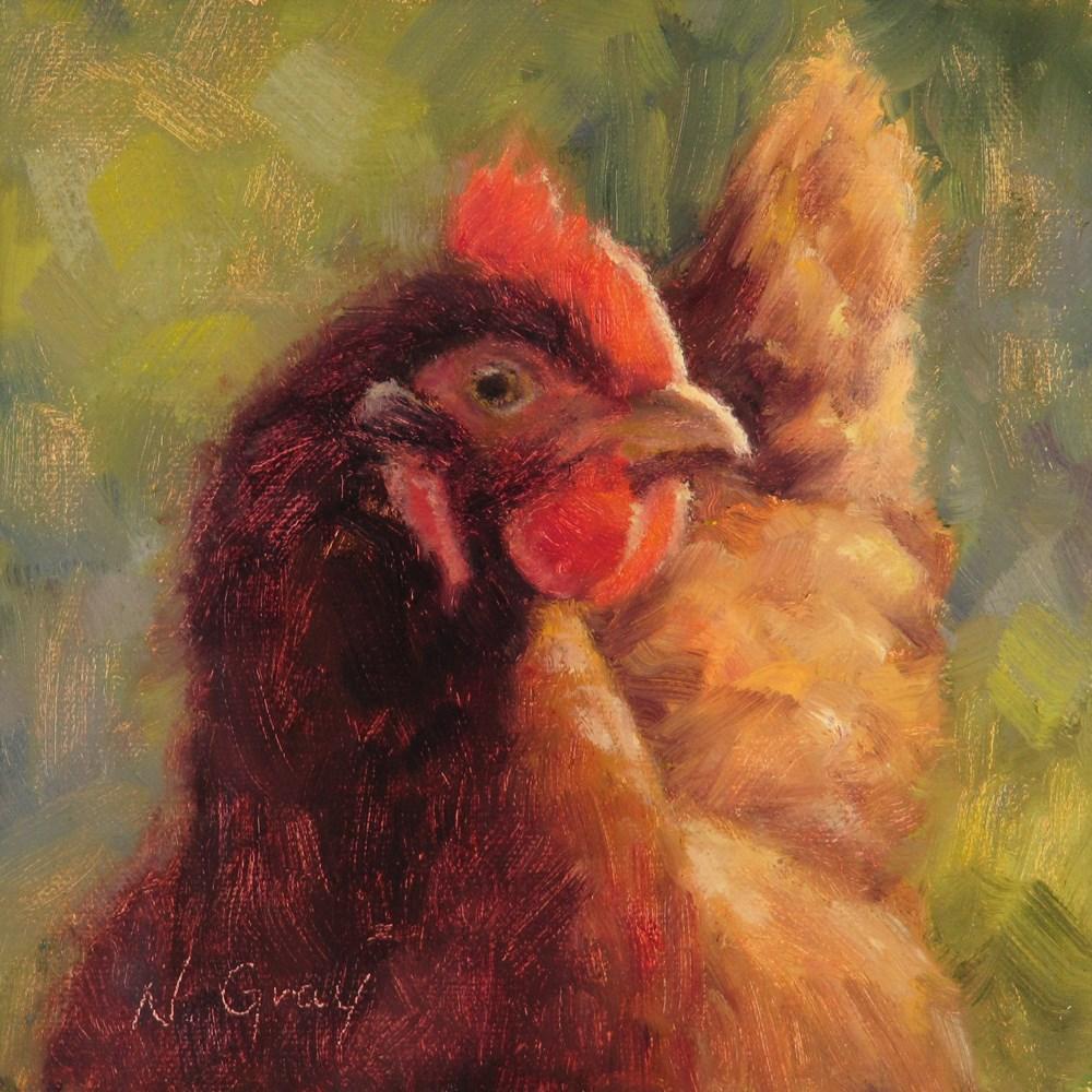 """Bea the Chicken"" original fine art by Naomi Gray"
