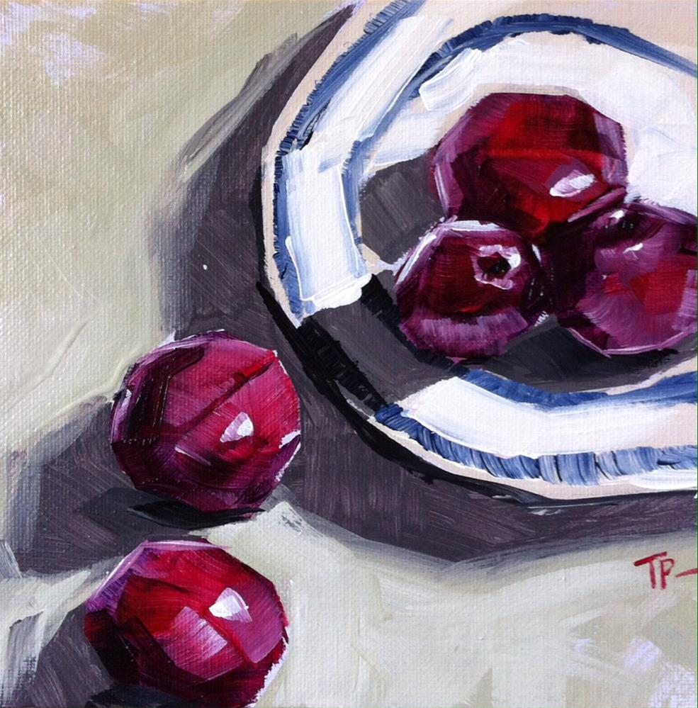 """Plum Drop"" original fine art by Teddi Parker"