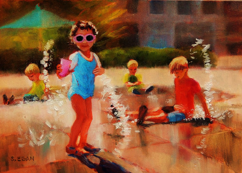 """Pink Sunglasses"" original fine art by Sharon Egan"