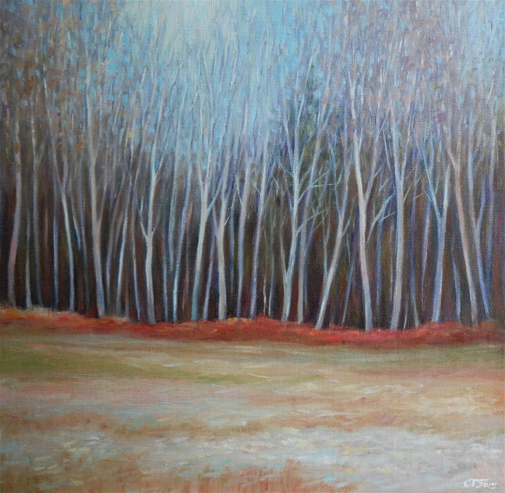 """November light"" original fine art by Olga Touboltseva-Lefort"