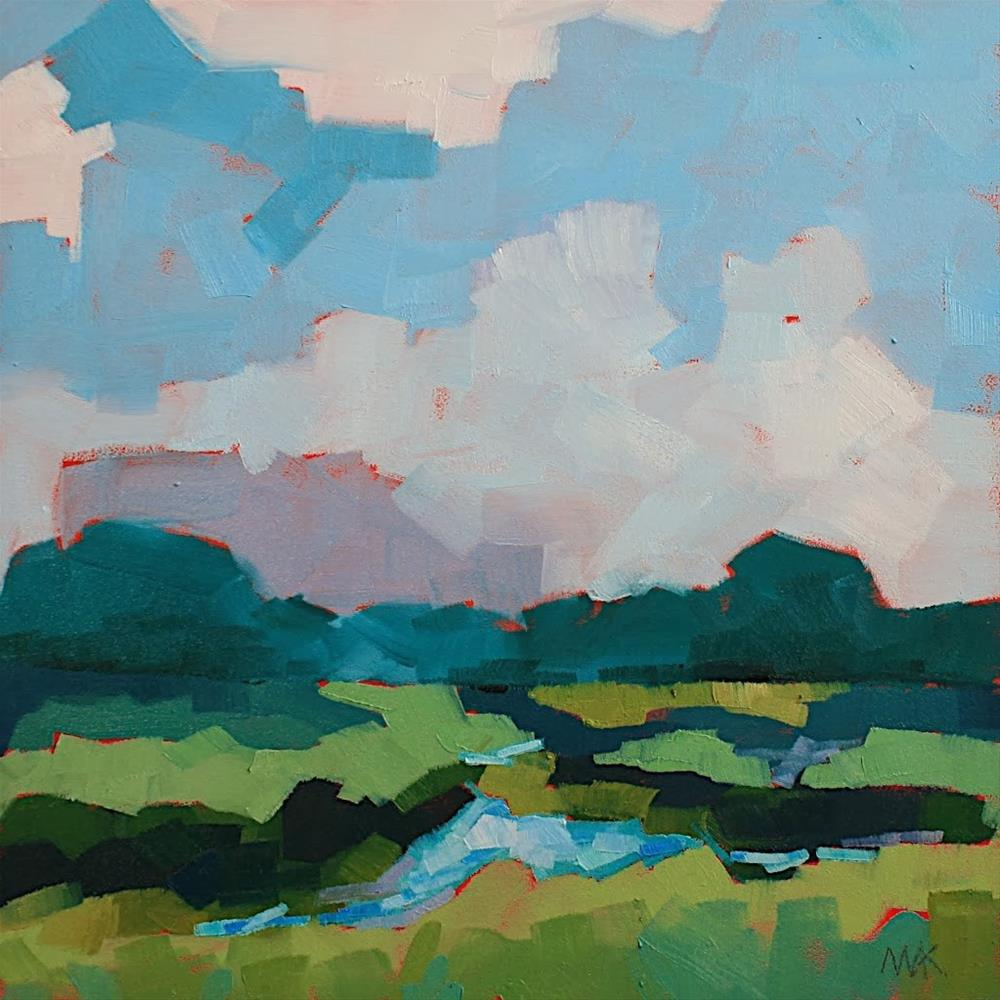 """Summer Marsh"" original fine art by Mary Anne Cary"