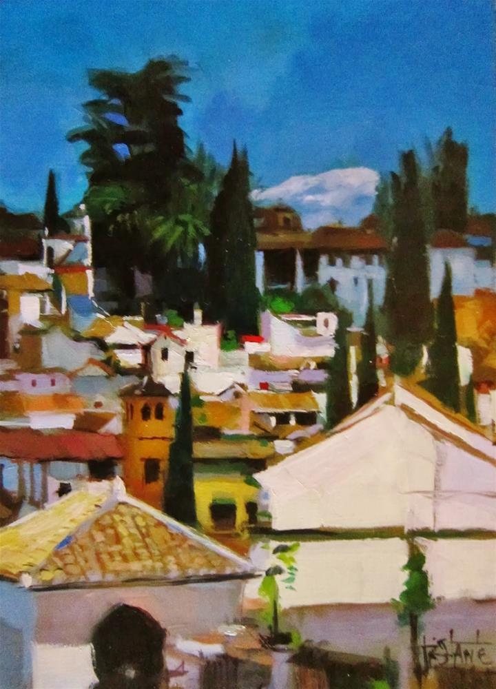 """""""Albaicín desde el Realejo"""" original fine art by Víctor Tristante"""