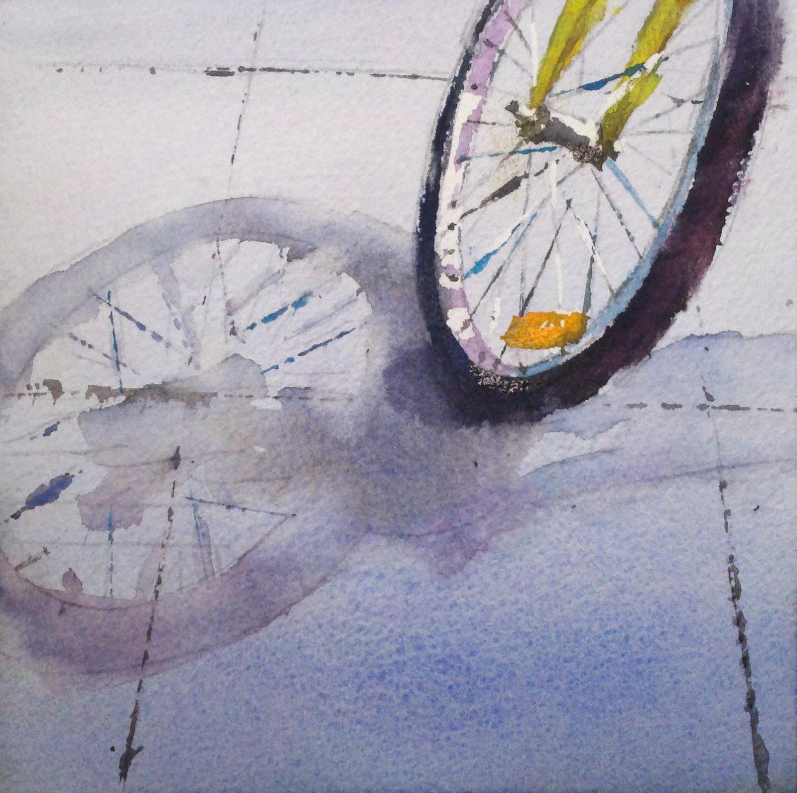 Spokes original fine art by Julie Hill